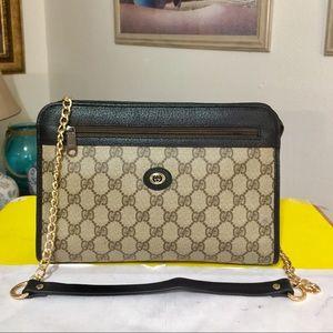 Gucci GG PATTERN Shoulder Bag 💼 Black trim